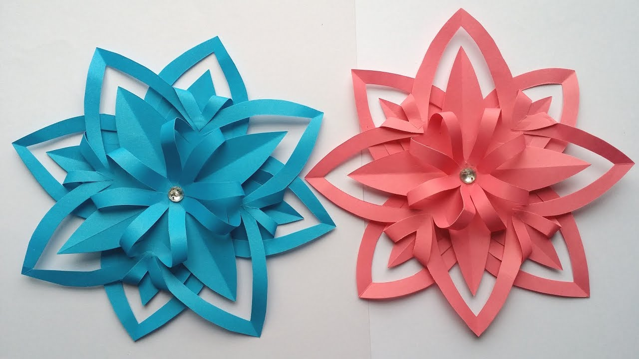Paper Flowers How To Make Beautiful Paper Flower Step By Step