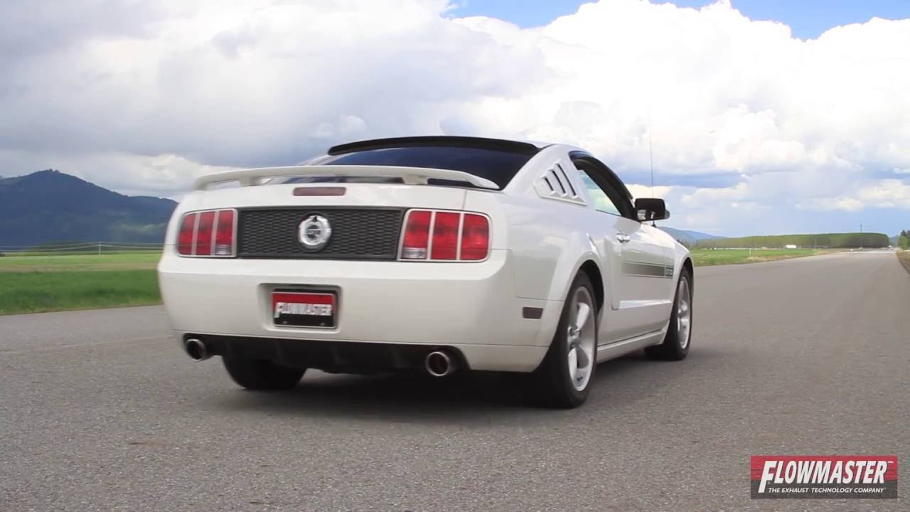 2005 2010 ford mustang gt performance exhaust system kit flowmaster outlaw cat back 817515 youtube. Black Bedroom Furniture Sets. Home Design Ideas