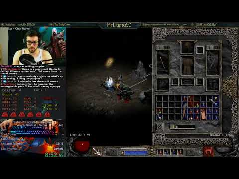 Diablo 2 - Necro & Amazon Any% Normal World Record Attempts - Day 2