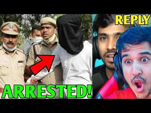 YouTuber ARRESTED! - WHY!   Desi Gamer gave Open CHALLENGE!, Ankush Hacked, Techno Gamerz