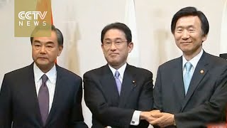 Foreign ministers from China, Japan, South Korea holds talk in Tokyo