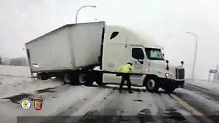 Minnesota state trooper blown to the ground