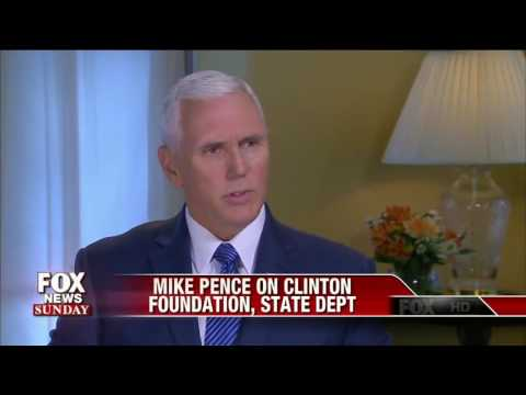 Pence calls for investigation into overlap between Clinton Foundation and State Department