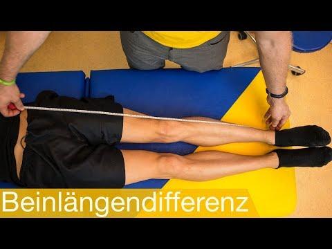 Beinlängendifferenz: messen (testen) 📏 ausgleichen und beheben