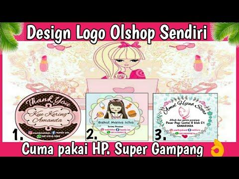 Berikut adalah cara membuat logo bisnis / Online Shop..
