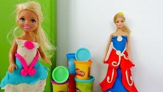 #PlayDoh hamurla oyunlar! Barbie hamurdan balo elbisesi yapıyor. #eğiticivideo