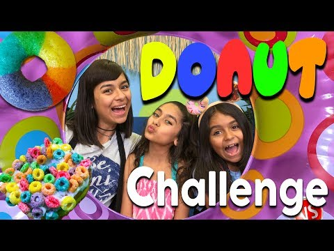 Cute Donut Challenge - Funny Food Taste Test : SO CHATTY // GEM Sisters