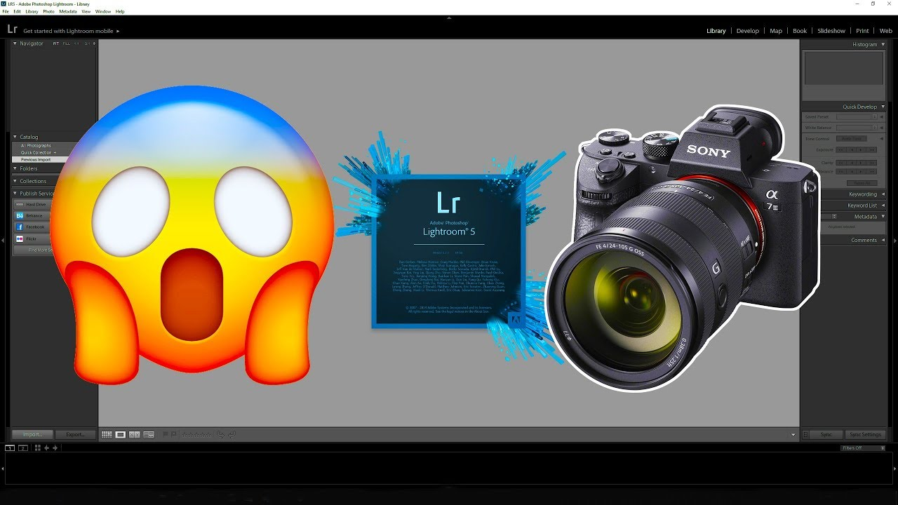 Sony A7III - Importing your RAW files In Lightroom 5 7 1
