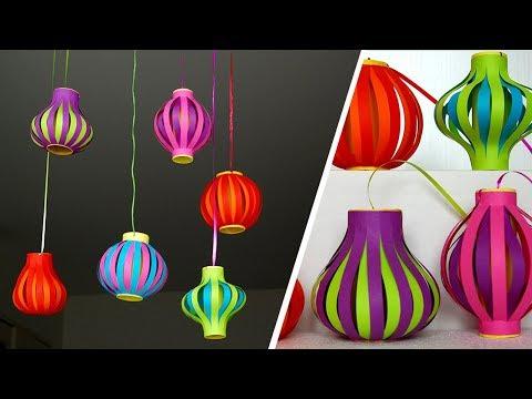 Cách làm Đèn Lồng Trung Thu Đơn Giản - Đèn Lồng Trung Thu cho Bé -  DIY Lantern for Moon Festival-