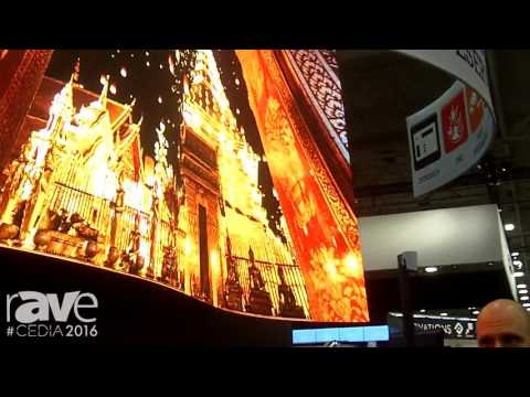CEDIA 2016: Leyard Demos CarbonLight CLA Series of LED Video Wall Displays