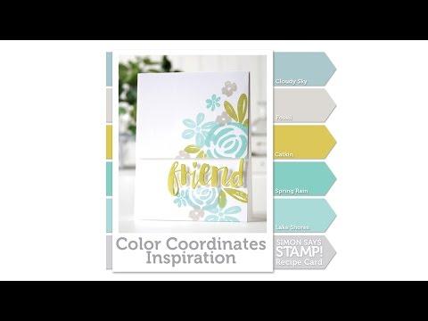 Simon Says Stamp Color Coordinates: with Shari Carroll