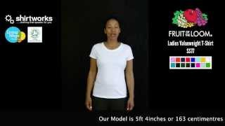 Fruit of the Loom Ladies Valueweight T Shirt 61 372 0, SS77