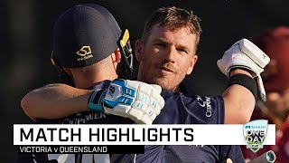 Highlights: Queensland v Victoria, Marsh One-Day Cup 2019