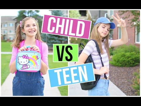 CHILD YOU VS TEEN YOU: GOING BACK TO SCHOOL!!