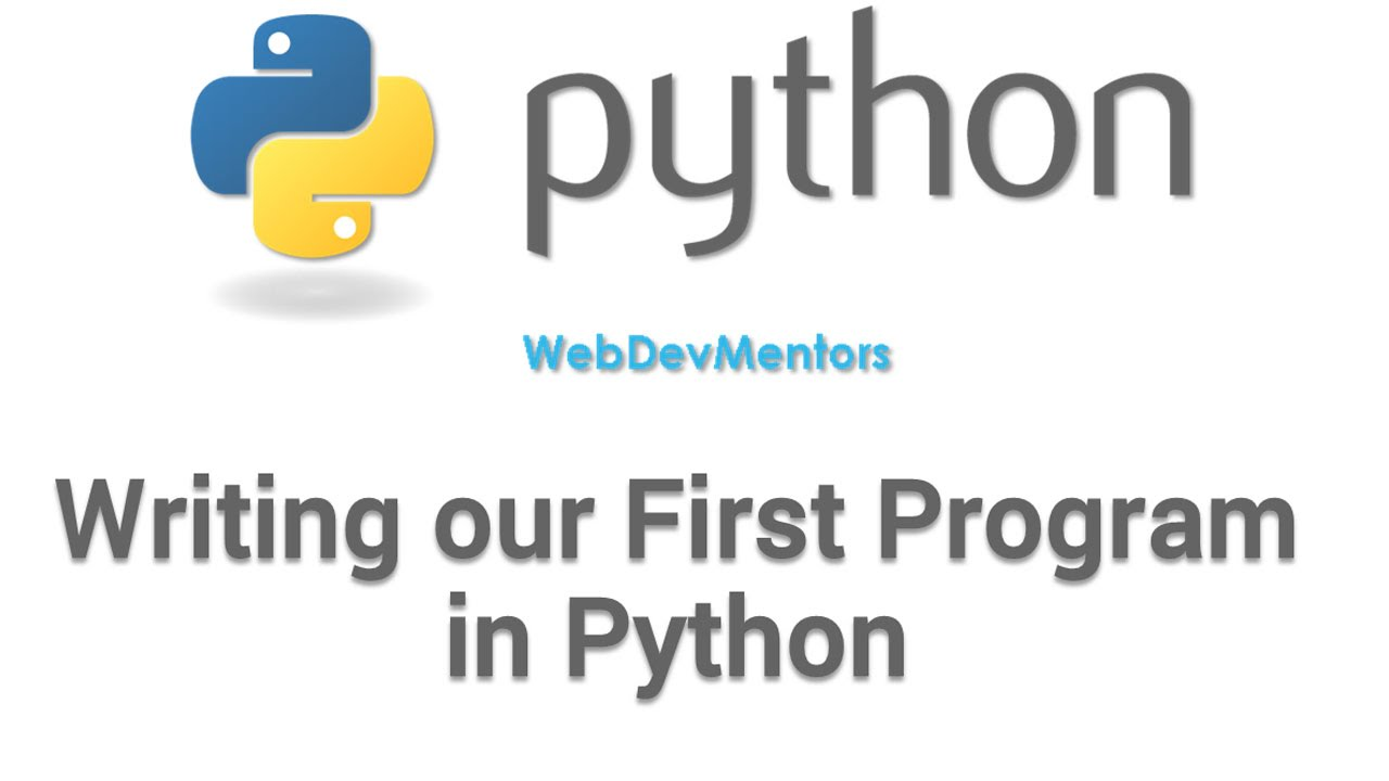 writing a program in python
