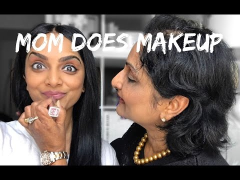 My Indian Mom Does My Makeup!!!   Deepica Mutyala