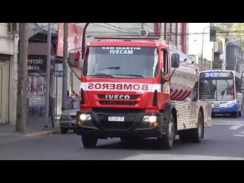 NUEVOS CAMIONES E INDUMENTARIA PARA BOMBEROS DE SAN MARTIN
