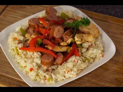 Chicken, Sausage & Pepper Rice
