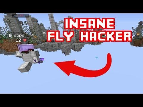 INSANE FLY HACKER IN HYPIXEL BEDWARS - 2