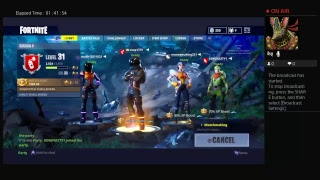 Live PS4 playing fortnite and giving away a Dokkan battle account if 20 viewers join
