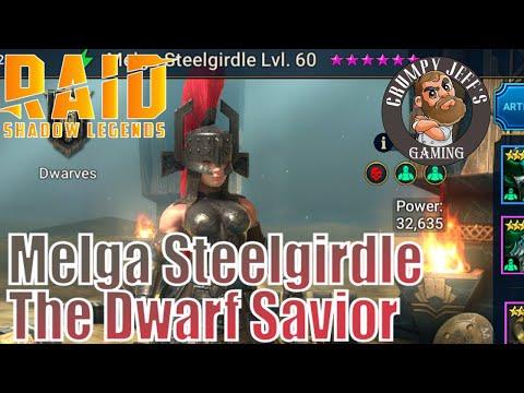 Raid Shadow Legends Melga Steelgirdle Champion Reveiw