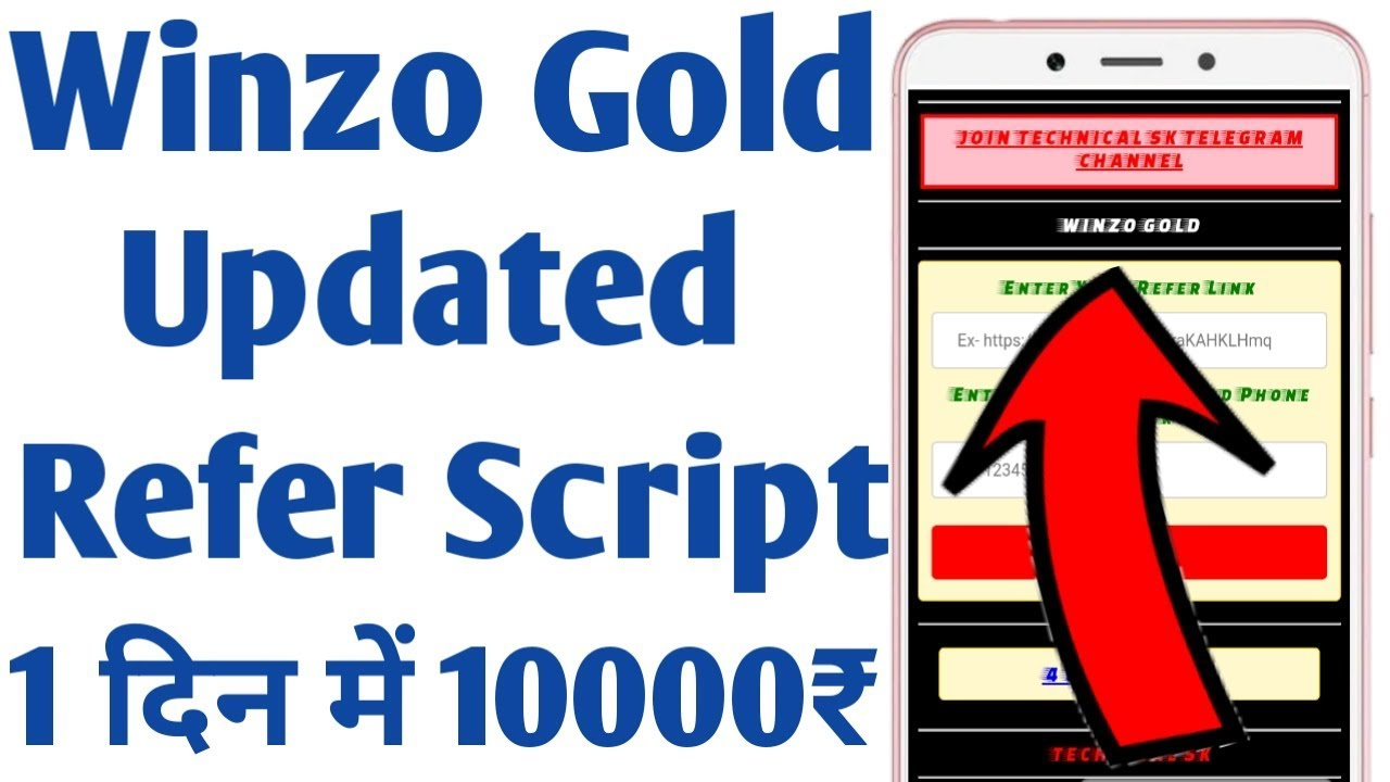 Winzo Gold Update Refer Script | Winzo Gold Refer Script | Winzo Gold Mod Apk 2019