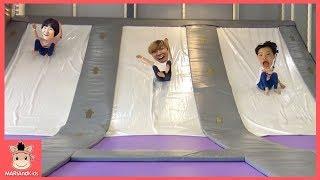 대형 미끄럼틀 테마파크 키즈카페 놀이! 플레이즈 놀이터 ♡ indoor playground slide kids family fun play | 말이야와아이들 MariAndKids
