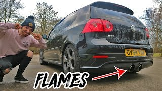 BRUTAL STRAIGHT PIPED GOLF MK5 GTI STAGE 2+ * REVIEW *