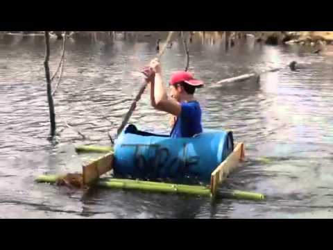 Home Made Barrel Boat