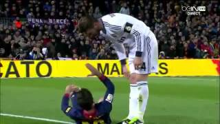 Jordi alba winning an oscar playing against real madrid.