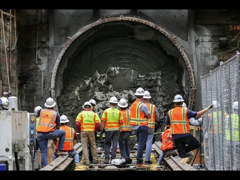 360 video – Monstrous tunnel-boring machine to rear its head in downtown L.A.