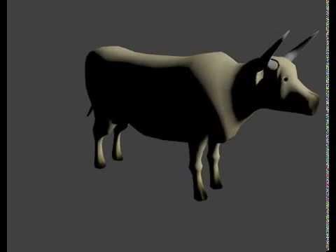 3d Cow Blender