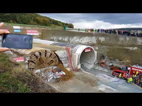 Slavnostní proražení tunelu Ejpovice