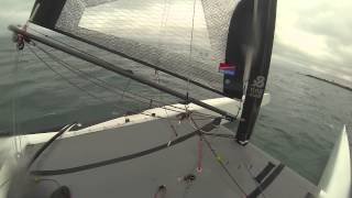 Michigan Lake Foiling Catamaran 1