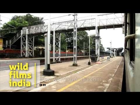 Train passing through Tanur and Tirur, Kerala