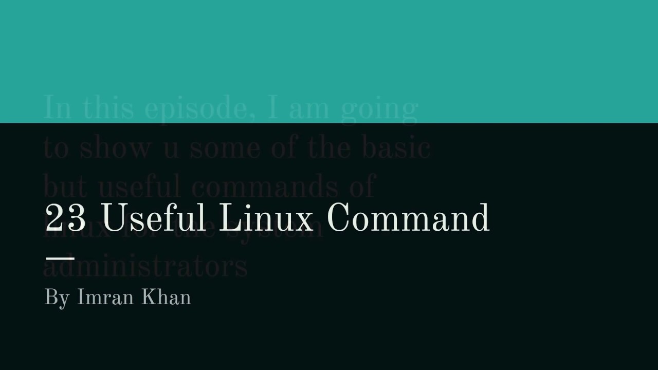 23 Basic Linux Command for Beginners