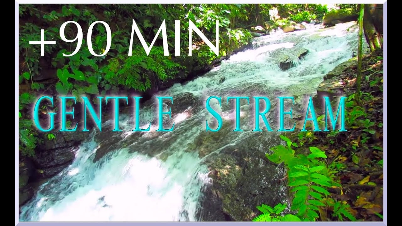 Tropical Island Beach Ambience Sound: Stunning Waterfall Sounds And River Sounds