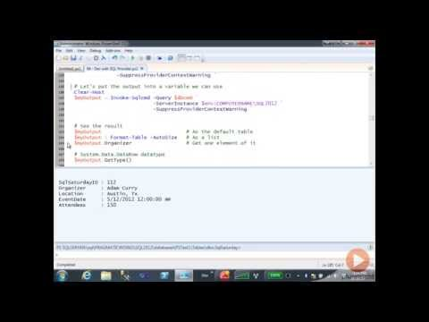 Invoke-Sqlcmd cmdlet in SQL Server with PowerShell | Pluralsight