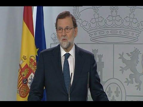 Rajoy pregunta a Cataluña si ha declarado la independencia antes de aplicar el 155