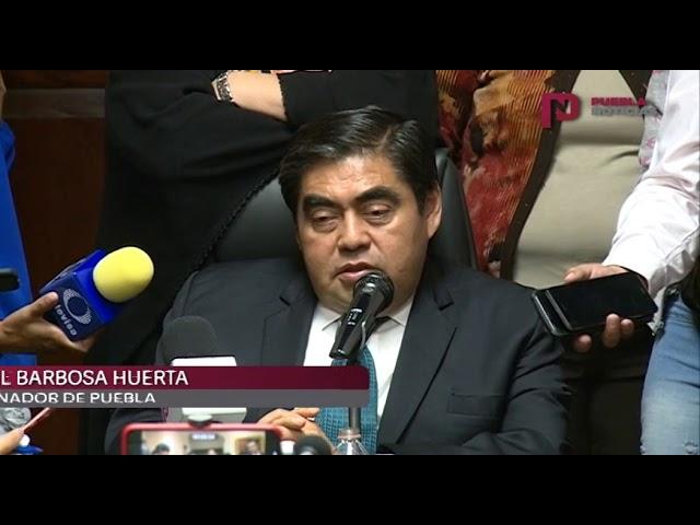#PueblaNoticias Miguel Barbosa continuara con la investigación financiera a ex funcionarios