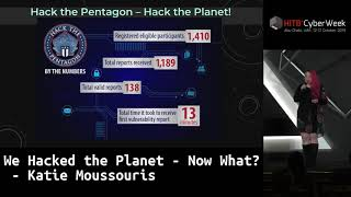 #HITBCyberWeek KEYNOTE - We Hacked The Planet - Now What? - Katie Moussouris
