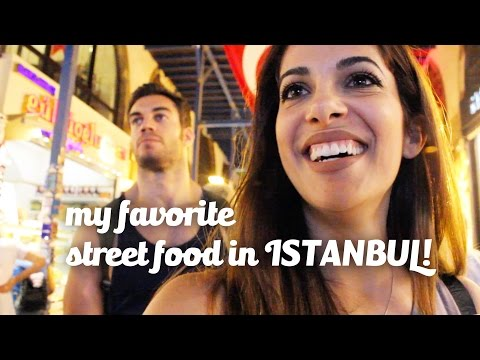 Favorite Street Foods in Istanbul! || Travel Turkey - Evan Antin and Nathalie Basha