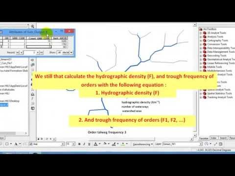 How to count the number of streams (Summarize) to calculate: hydrographic density & frequency trough