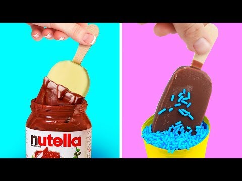 Trying 39 YUMMY SUMMER DESSERTS Chocolate Decor and Food Life Hacks By 5 Minute Crafts