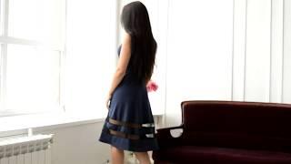 Хит продаж - нарядное платье темно-синего цвета П 076