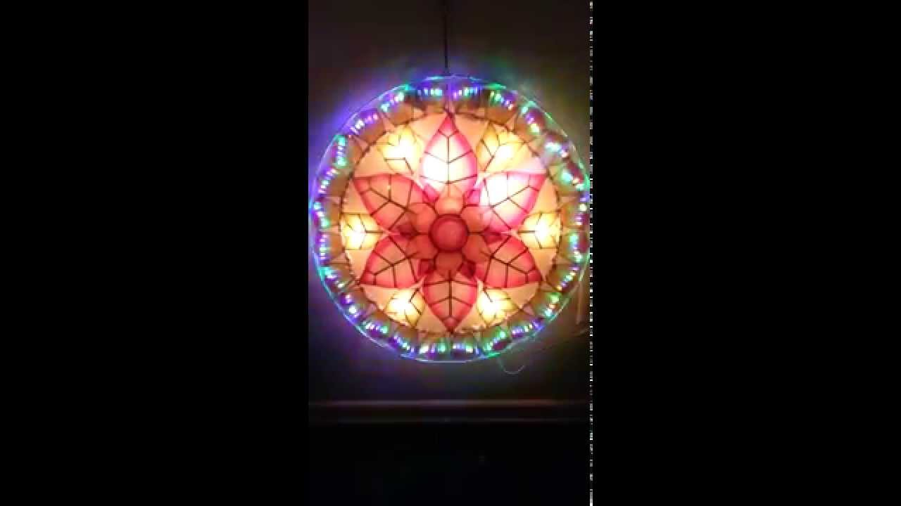 Filipino parol for sale in america - For Sale Stariray Christmas Lantern Parol Capiz In Flower Pink Led Light For Sale Youtube
