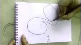 "How to Draw a Duck Using Alphabet ""G"""
