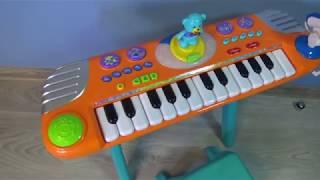 Обзор детского пианино с микрофоном и танцующим мишкой. Играем вместе