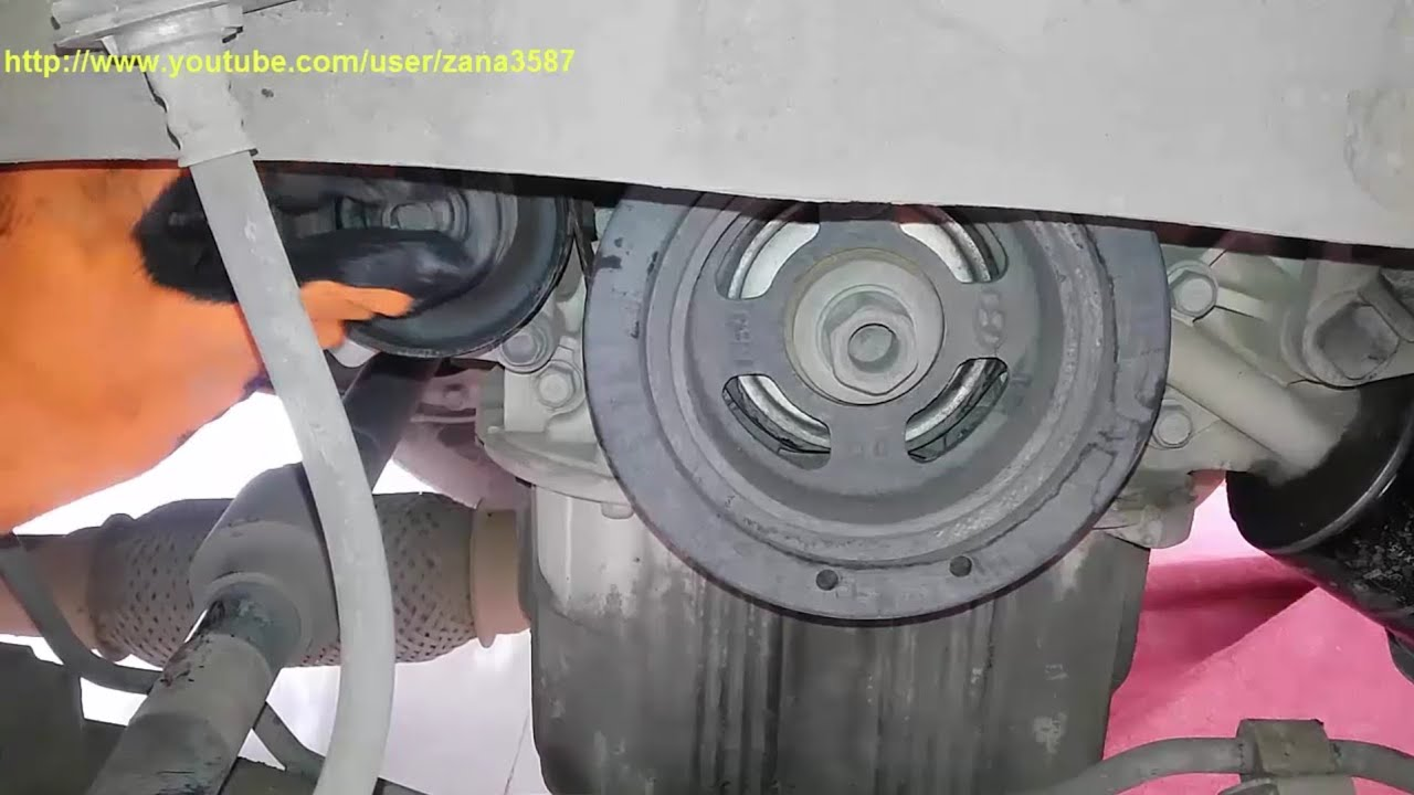 change belts compressor and belts dynamo kia sportage change belts video 26  [ 1280 x 720 Pixel ]