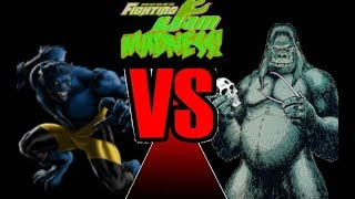 Mugen Fighting Jam Madness: Beast (Marvel Comics) vs. Gorilla Grodd (DC Comics)